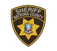 Natrona County Sheriff Patch, brown with tan lettering and gold star